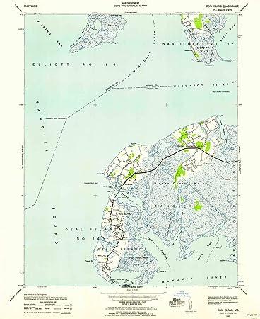 Amazon.com : Deal Island MD topo map, 1:24000 Scale, 7.5 X 7.5 ...