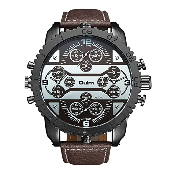 Big Dial Oulm Watches Male Watch Montres de Marque de Luxe Relojes Lujo Marcas Men Military