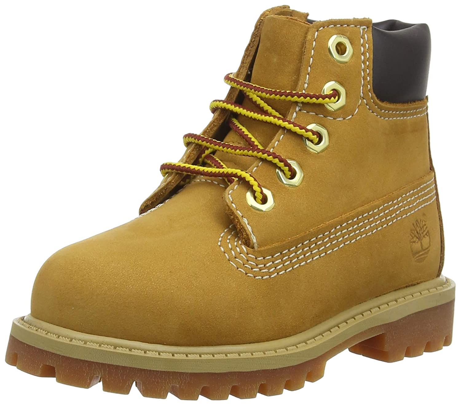 Timberland Boys' 6 Inch Classic Boot Wheat Nubuck 6 Big Kid