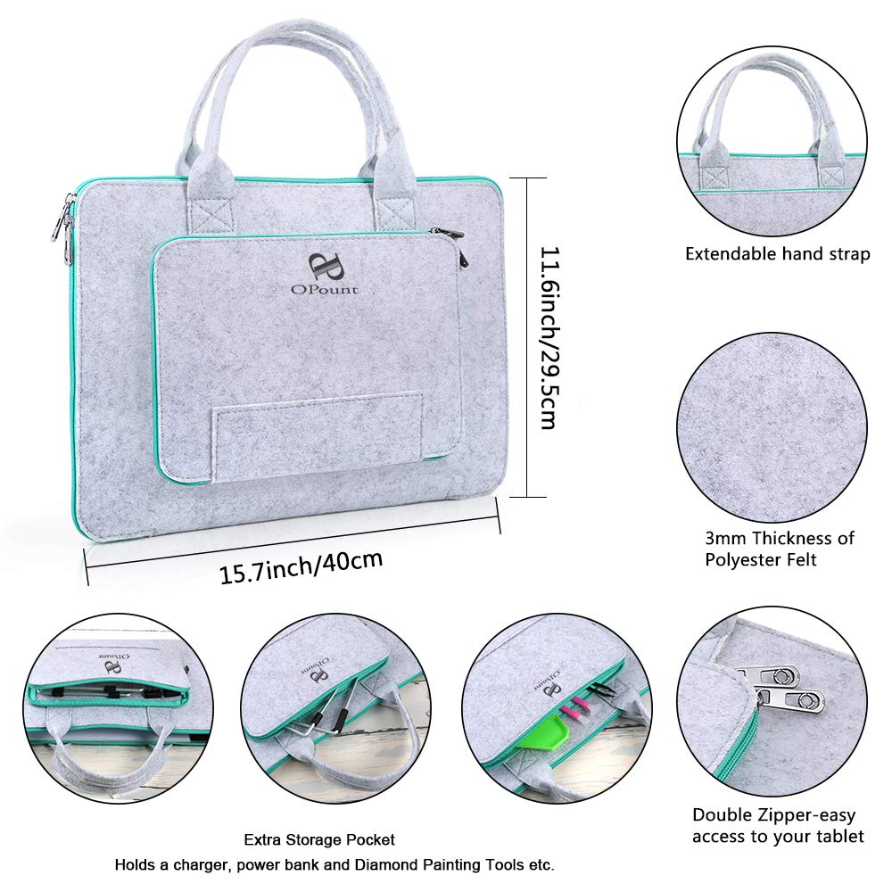 15 Inch Polyester Felt Hand Held Case Bag and Stand Holder for DIY Art Craft Diamond Painting Sketching PP OPOUNT Diamond Painting B4 LED Light Pad Set Include B4 LED Light Tablet Pad