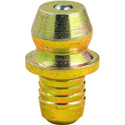 """Lumax LX-3505 Gold/Silver LX-3505-10 Drive Type Straight 0.50"""" Long Fitting for 3/16"""" Diameter Hole, (Pack of 10). Circumferential Serrated Shank Provides a Grease Tight Seal When Installed: Automotive"""