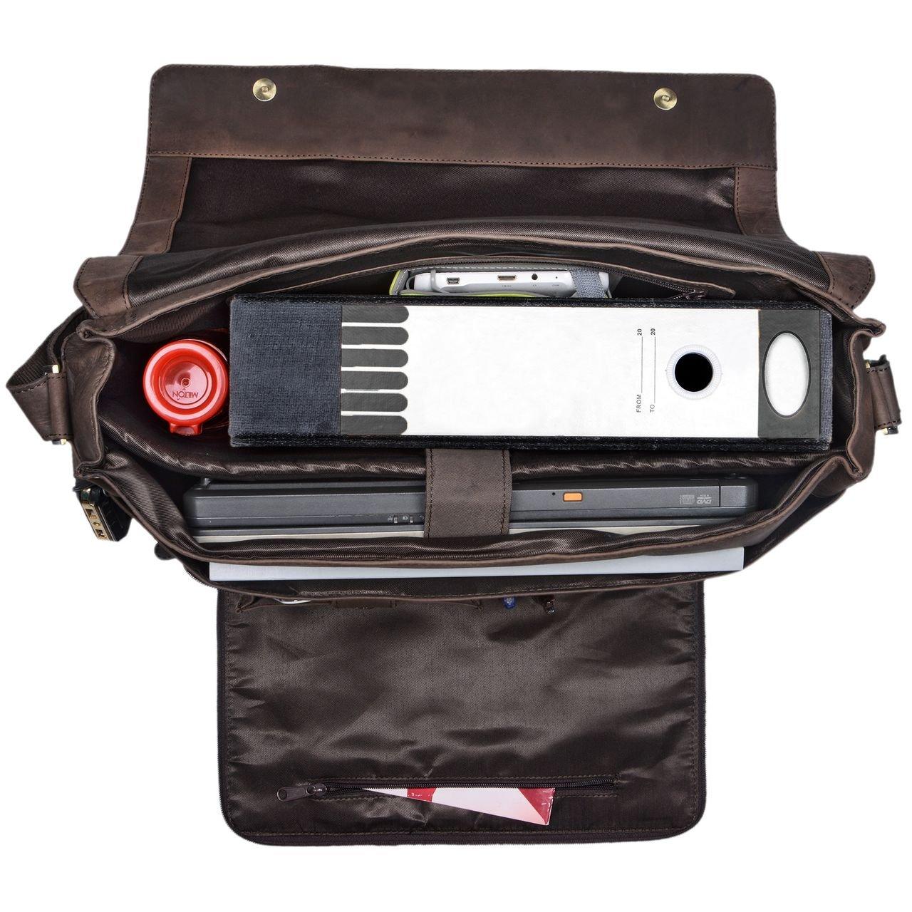 953d320d67 foncé pâle STILORD Maximus Sac à Bandoulière XXL Cuir Unisexe Design  Vintage Sacoche dOrdinateur Portable Serviette ...