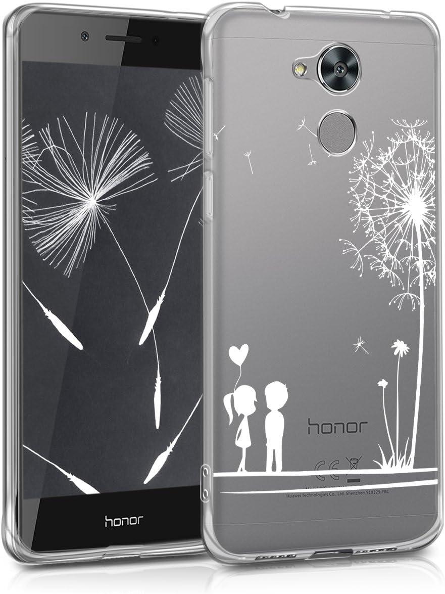 kwmobile Coque Huawei Honor 6C Housse de t/él/éphone en Silicone Bleu-Fuchsia-Transparent Coque pour Huawei Honor 6C
