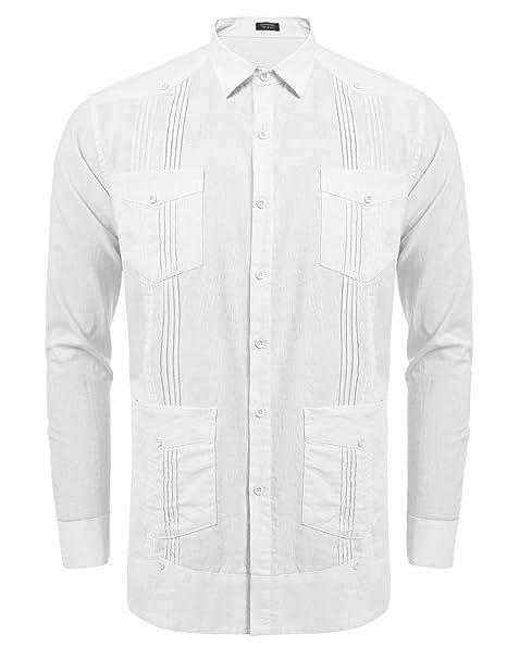 Amazon.com: COOFANDY - Camisa de manga larga para hombre ...