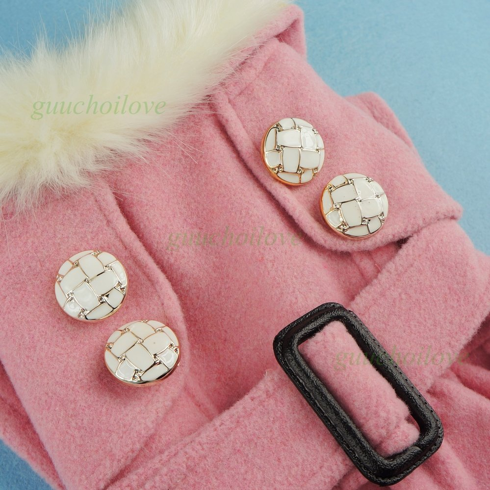 Fitwarm Noble Pink Woolen Pet Clothes for Dog Jackets Coat Dress, Small by Fitwarm (Image #4)