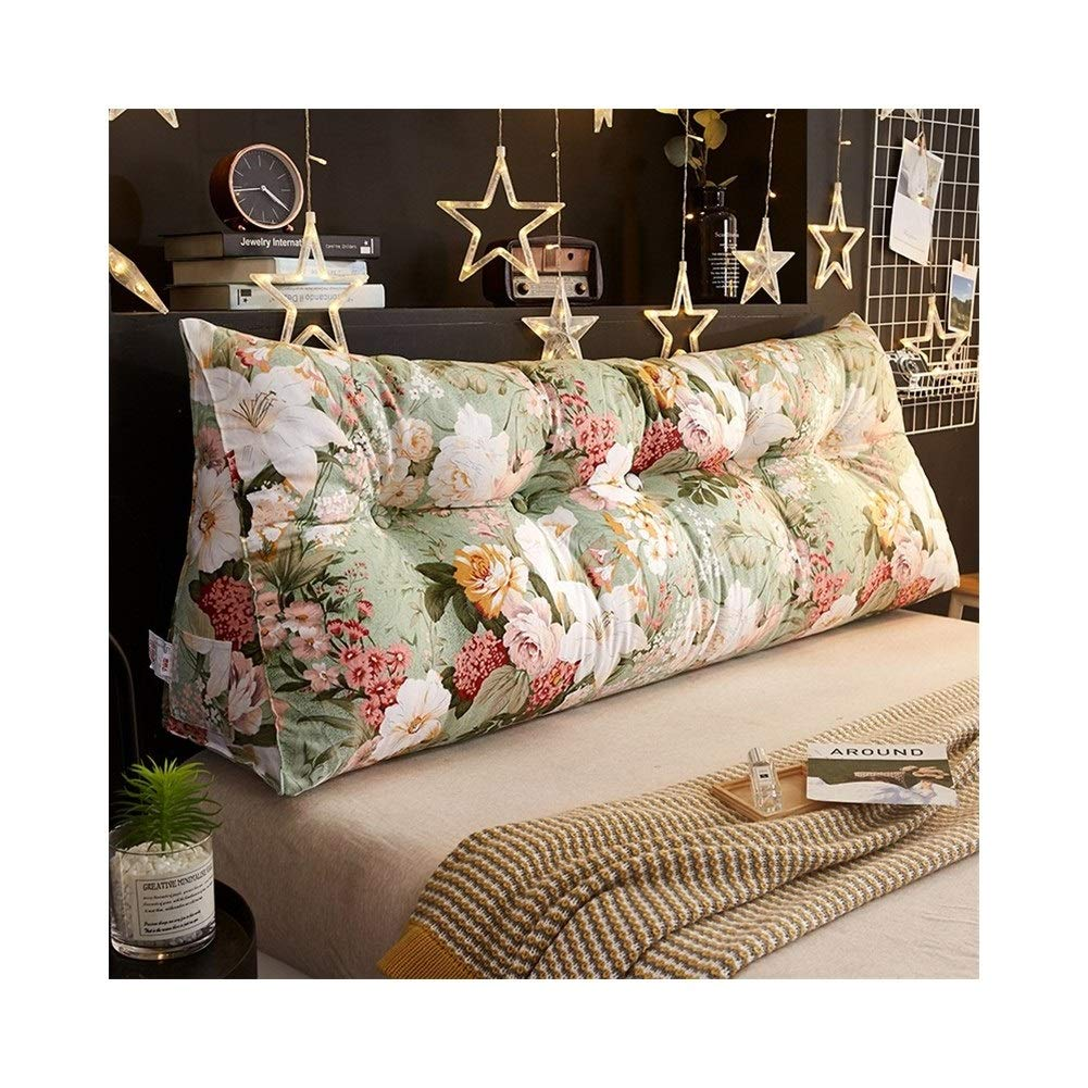 Bedside Triangle Cushion Soft Bag Sofa Bed Backrest Triangle Pad PP Cotton Double Bed Sofa Cushion Neck POUN (Size : 1802550cm) by XXCushion