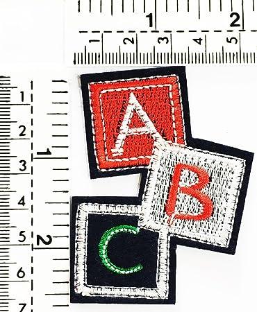 Amazon Com Abc English Consonants Letter Kids Cartoon Patch
