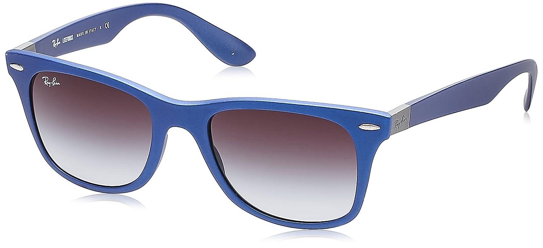 023342fb92 Ray-Ban Wayfarer Liteforce Dark Blue Sunglasses with Grey Lenses ...