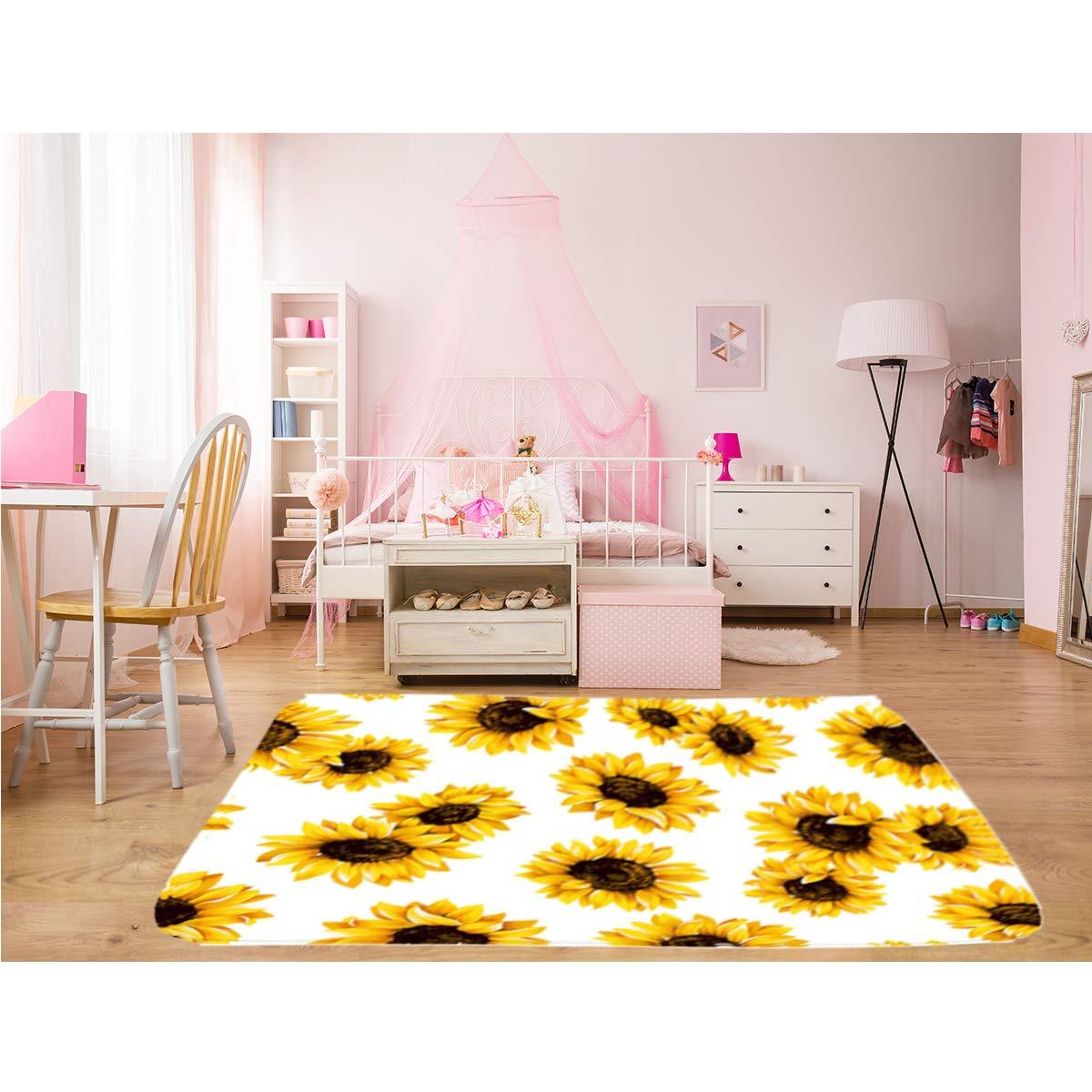 Baseball Pattern Area Rug for Living Room Bedroom 5x7 QH