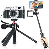 Ulanzi MT-16 Camera Tripod Stand Holder, Mini Tabletop Tripod Selfie Stick with Cold Shoe, Travel Tripod for iPhone 12…