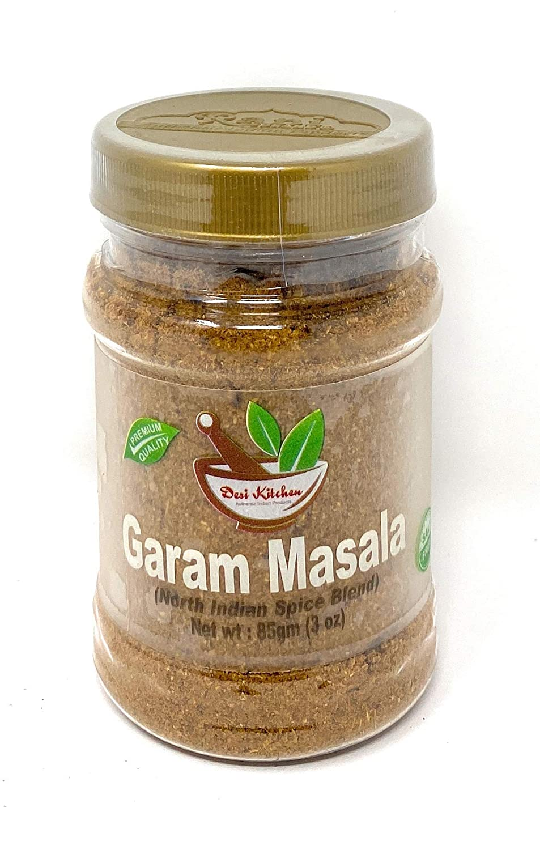 Desi Kitchen Spices All Natural | Salt Free | Vegan | Garam Masala (North Indian Spice Blend) 3oz By Rani Foods Inc