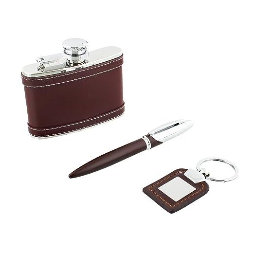 El Harvey Makin colección Set de regalo - Hipflask bolígrafo ...