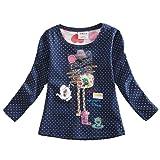 VIKITA Mädchen Langarm Baumwolle T-Shirt Top 1-6 Jahre