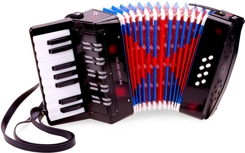 New Classic Toys - 10057 - Instrument À Vent - Accordéon Noir avec Le Livre de Musique 2042841 Cuivres et Instruments à vent