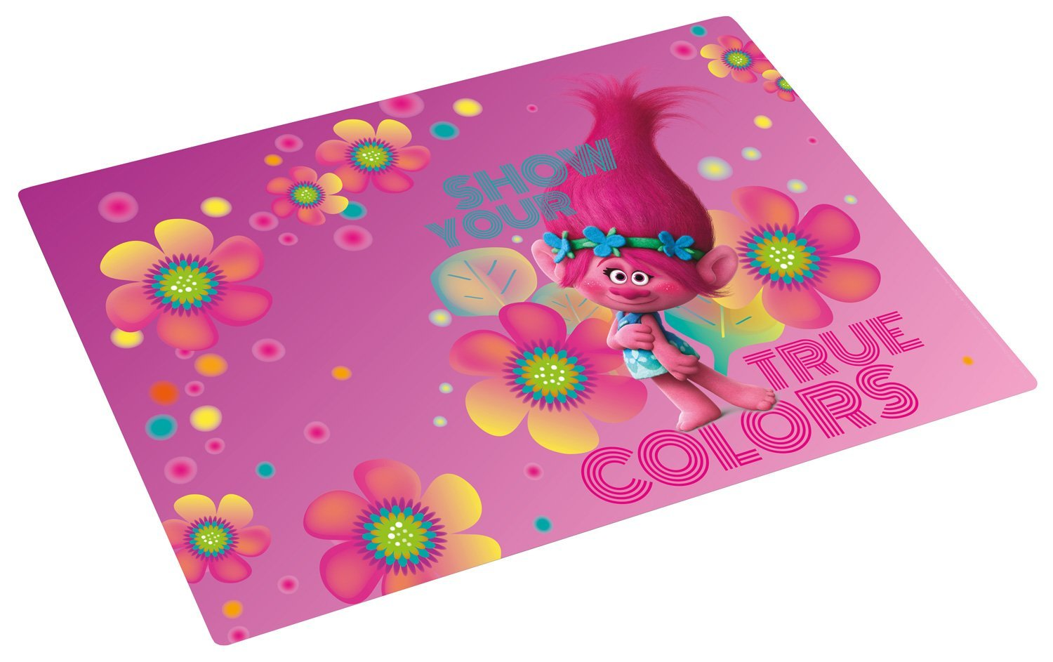 p:os 25833  Placemat Dreamworks Trolls, Approx. 42  x 29  cm Approx. 42 x 29 cm