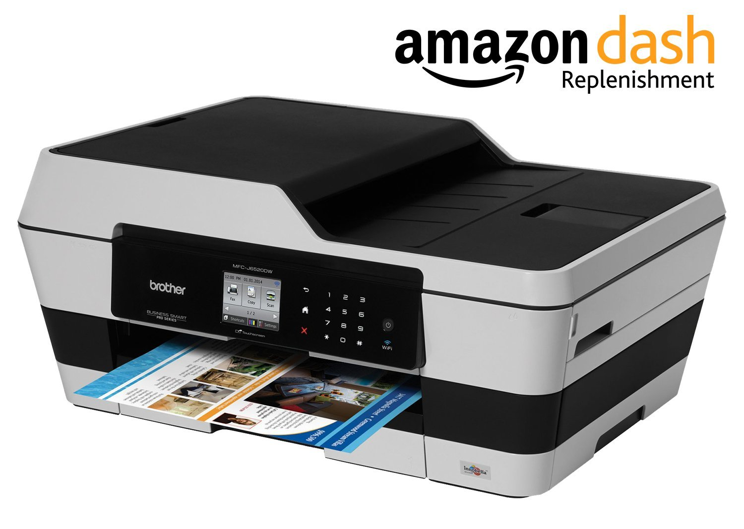 Amazon Brother Printer MFC J6520DW Wireless Color With Scanner Copier And Fax Dash Replenishment Enabled Electronics