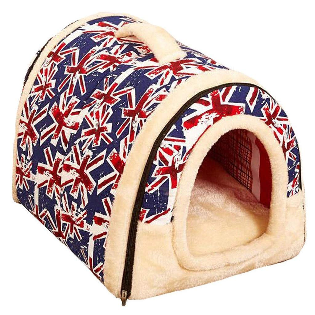 L Vacally 2 in 1 Pet House Sofa for Dog Bed Cat Puppy Rabbit Pet Nest Soft Warm Pet Bed Indoor Pet Supplies Kennel