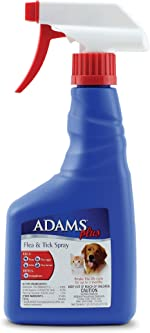 Adams Plus Flea and Tick Spray for Cats and Dogs, 16