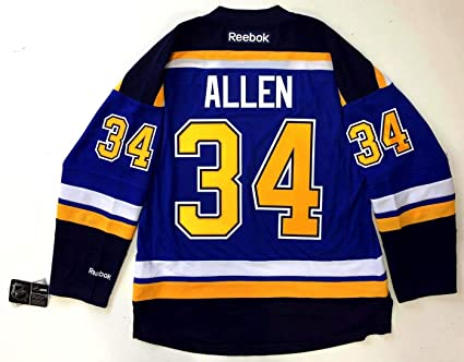 first rate ae737 a04f5 Jake Allen Jersey - Reebok Premier Home New Tags at Amazon's ...