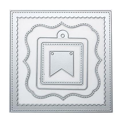 Amazon.com: Whitelotous Metal Cutting Dies Stencil Template Mould ...