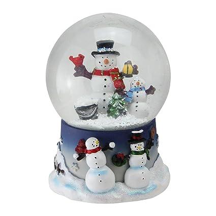 Northlight 6 75 Snowman And Snow Son Musical Christmas Snow Globe Glitterdome