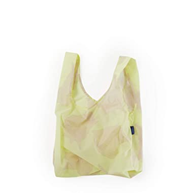 BAGGU Standard Reusable Shopping Bag, Ripstop Nylon Grocery Tote or Lunch Bag, Conch