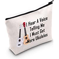 LEVLO Funny Ukuleles Lovers Gifts I Hear A Voice Telling Me I Must Get More Ukuleles Makeup Bags Musical Instruments…