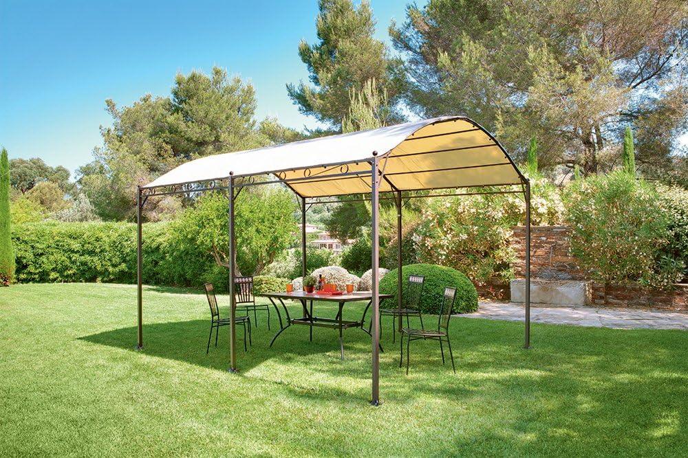 Provence Outillage-Pérgola de hierro, acero, poliéster y PVC, 300 ...