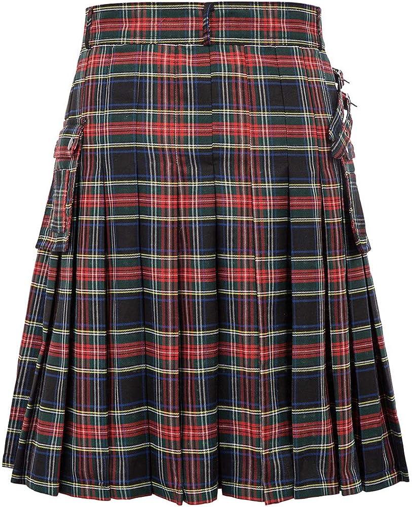 SCARLET DARKNESS Jupe Kilt Homme /Écossais Tartan Jersey Traditionnel Costume D/éguisement