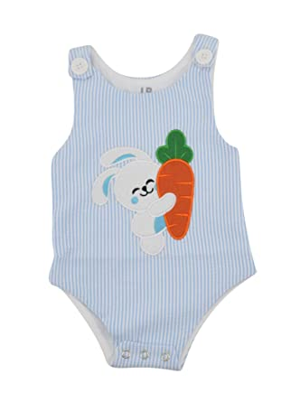 4fea6fef8981 Amazon.com  Unique Baby Boys Easter Bunny Jon Jon Outfit  Clothing