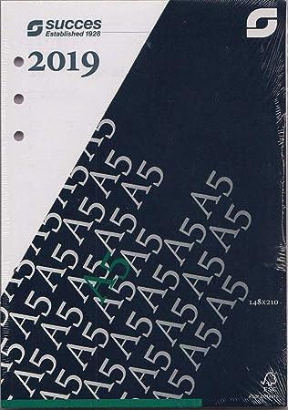 Succes A5 Executive 2019 Jahresbox 7Tage//2Seiten DEU weiß Kalendarium IED7.19