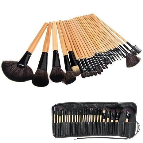 8bf345ce9 Brochas Maquillaje 24 Piezas Set Profesional color Madera Chicaspekes:  Amazon.com.mx: Salud, Belleza y Cuidado Personal