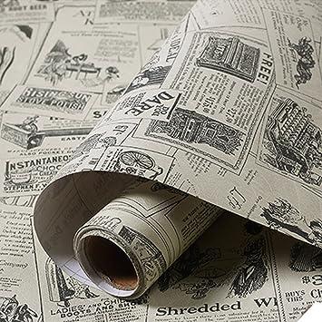 Tapete Zeitung yazi pvc tapete selbstklebend aufkleber mediterraner stil