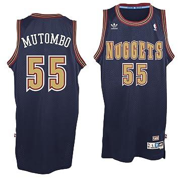 Denver Nuggets Dikembe Mutombo Navy Adidas Soulman Jersey (XL)  Amazon.ca   Sports   Outdoors 3c256de16