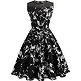 DaySeventh Women Evening Party Prom Swing Dress Vintage Bodycon Sleeveless Casual Retro