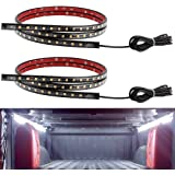 Truck Bed Lights YITAMOTOR 2PCS 60in White Waterproof Tailgate Light Bar Strip with On-off Switch for RV SUV Jeep Pickup Truck Cargo