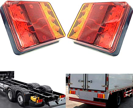 2PCS Universal Car Light ATV SUV 12V Red 24 LED Stop Fog Tail Light  Brake Lamps