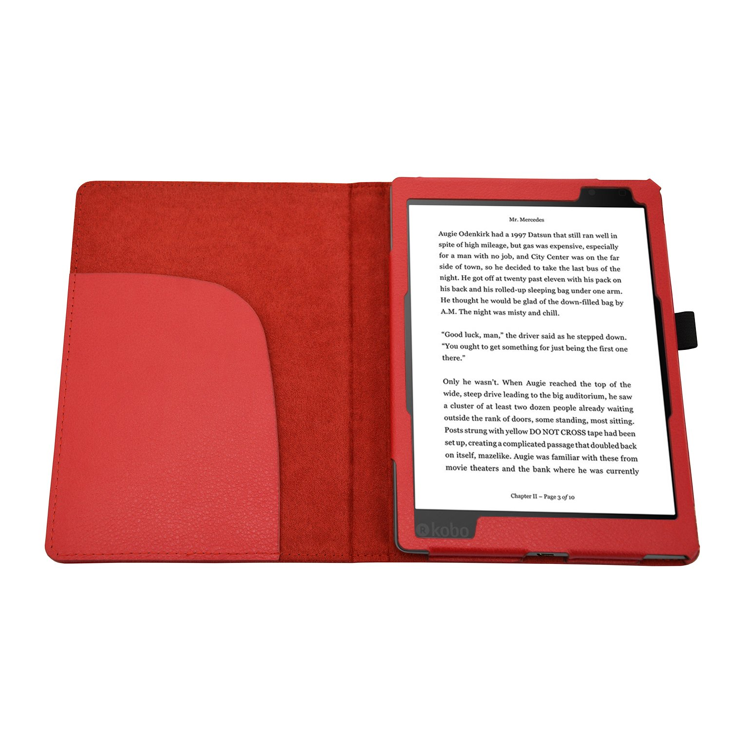 EnjoyUnique para Kobo Aura One Smart PU Funda de Piel Estilo Libro ...