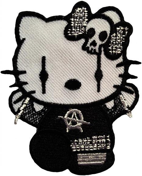 Parche gótico Hello Kitty Goth Punk Rock Emo 6.5 x 8 cm- Parche ...
