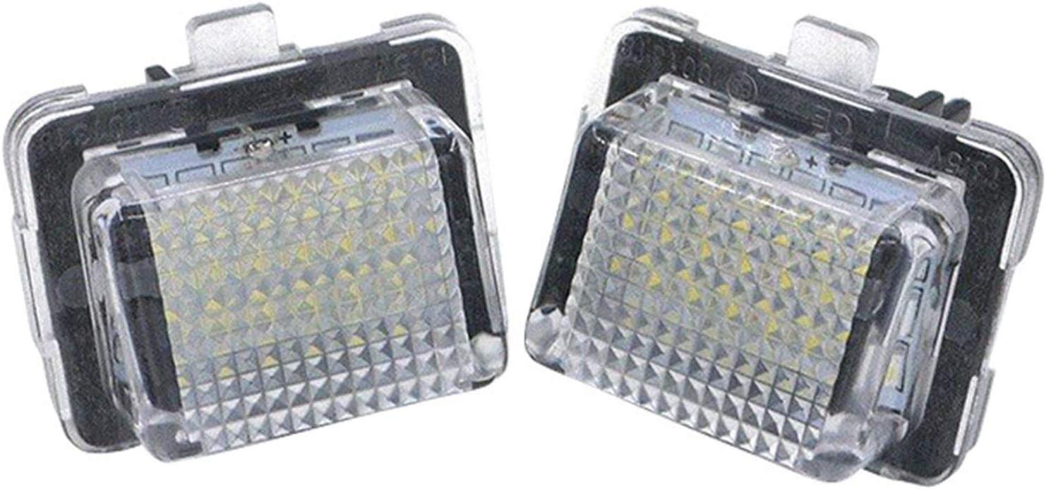 MAMINGGANG MMGANG® Carnet de Conducir de 18 SMD LED Placa de luz luz de la Placa en Forma for medos Mercedes W204 W221 W212 W216