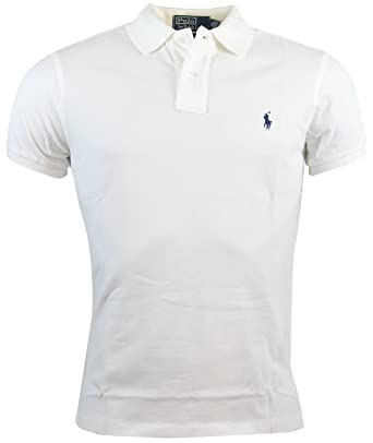 Ralph Lauren - Polo - para Hombre Blanco Blanco Large: Amazon.es ...