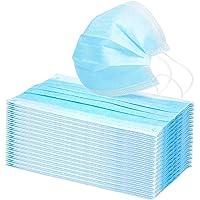 50Pcs Face Mask, Disposable Face Masks, 3-Ply Face Masks Protective for Smoke, Dust, Pollen, etc,