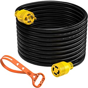 Kohree 30 Amp Generator Cord 40ft, 10 Gauge Heavy Duty L14-30 Generator Power Cord Up to 7,500 Watts with Cord Organize