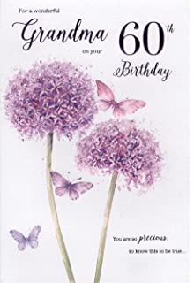 60th birthday card for a grandma amazon kitchen home icg grandma 60th birthday card lilac flowers 9 bookmarktalkfo