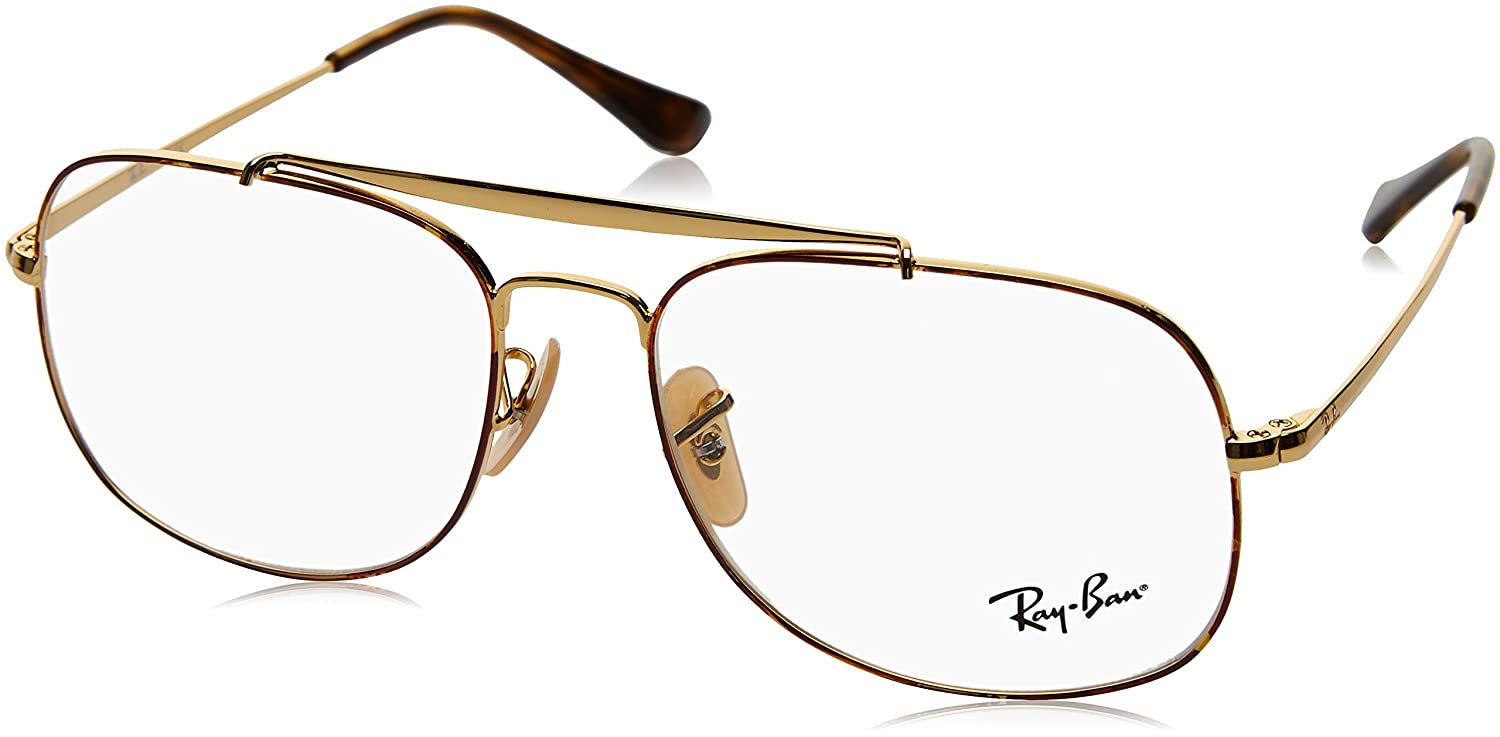 c91097f02a0 Amazon.com  Ray-Ban RX6389 2945 Eyeglasses Gold 55mm  Clothing