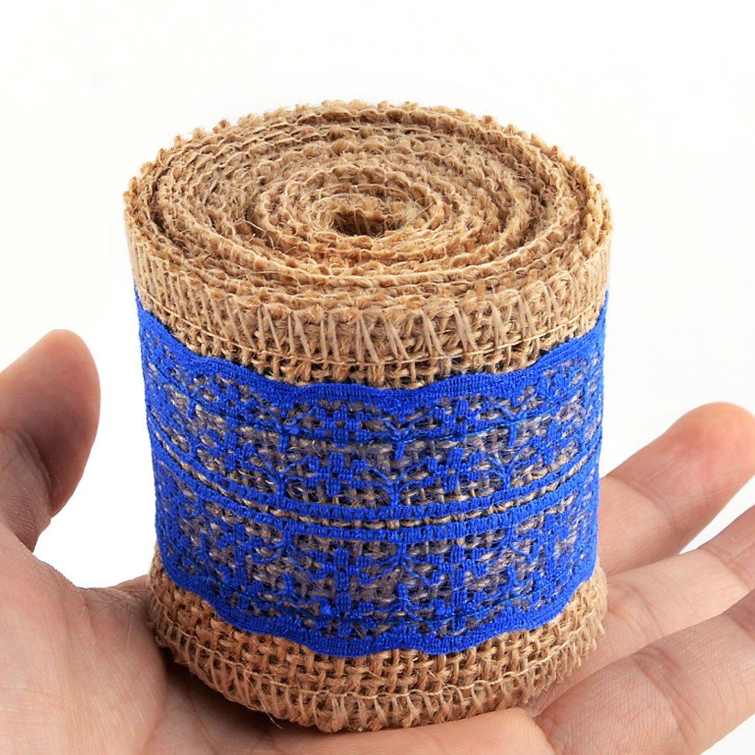 Amazon.com: Bricolaje artesanal de la Correa de la Cinta de arpillera eDealMax Encaje Decoración cuerda Rollo 2.2 yardas del Azul Real: Health & Personal ...