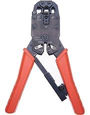 Herramienta de Engaste Alicate de Engarce de Alambre Carraca Cortador de Cables para 4P, 6P