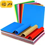 UPlama 40PCS Corrugated Sheets,Construction Paper,Colored Corruggated Cardboard for Craft,DIY Projects and Flower Making…