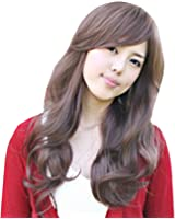 """TopWigy 25"""" Long Curly Wave Synthetic Hair Oblique Bang Cosplay Party Wig"""