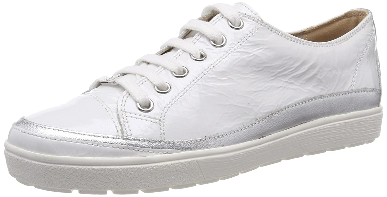 Caprice 23654, Zapatos de Cordones Derby para Mujer 40 EU|Blanco (White Napl Mud 124)
